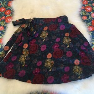 American Apparel floral wrap skirt